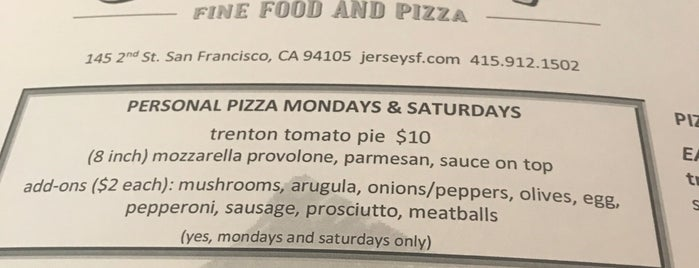 Jersey is one of SF food.