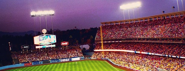 Dodger Stadium is one of Dan's Places.