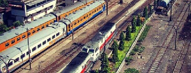 Stasiun Wonokromo is one of Surabaya train station.