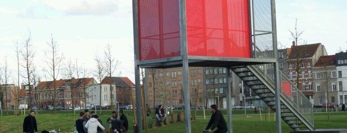 Park Spoor Noord is one of Antwerpse parken met BBQ.