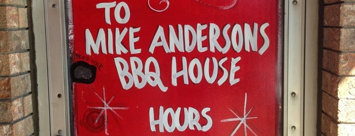 Mike Anderson's BBQ House is one of Dallas.