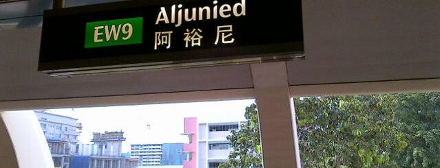 Aljunied MRT Station (EW9) is one of MRT: East West Line.