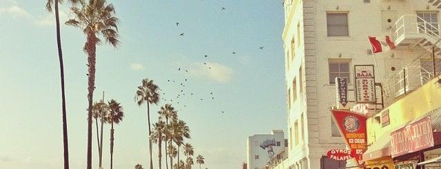 Venice Beach Boardwalk is one of California..