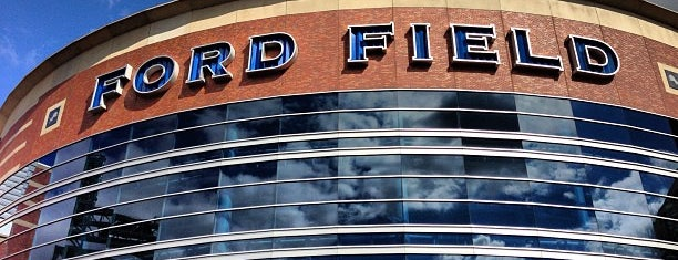 Ford Field is one of Dan's Places.