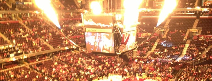 Quicken Loans Arena is one of A.