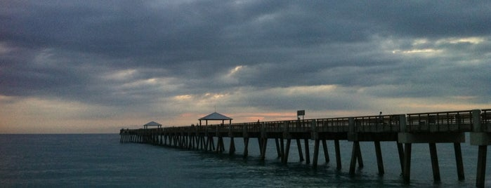 Juno Beach Park Fishing Pier is one of first.