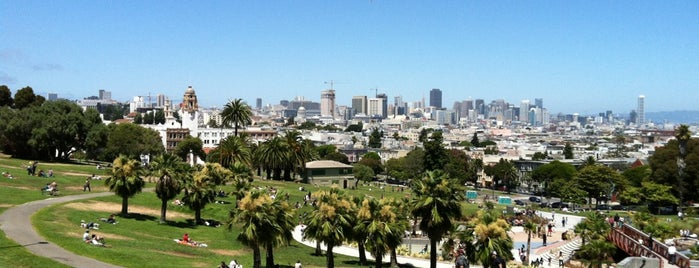 Mission Dolores Park is one of California..