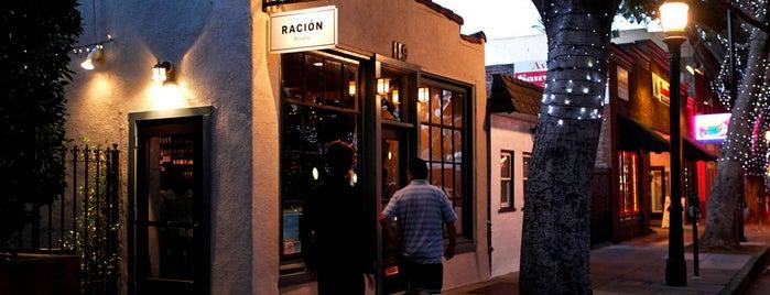 Ración is one of Southern California.
