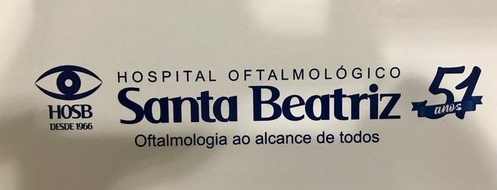 Hospital Oftalmológico Santa Beatriz (HOSB) is one of Rio -Niterói.