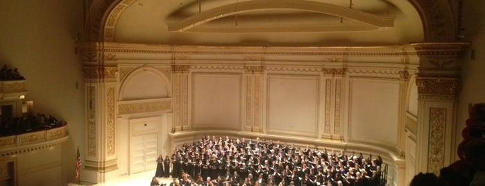 Carnegie Hall is one of NYC Manhattan 14th-65th Sts & Central Park.
