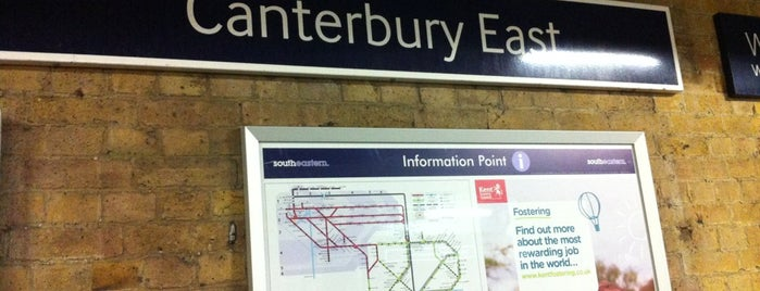 Canterbury East Railway Station (CBE) is one of Train stations.