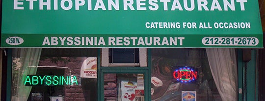 Abyssinia Restaurant is one of Harlem, etc..