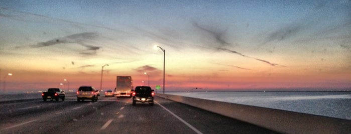 Howard Frankland Bridge is one of places.