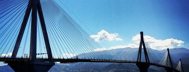 Γέφυρα Ρίου-Αντιρρίου «Χαρίλαος Τρικούπης» (Rio-Antirrio Βridge) is one of Greek gems.