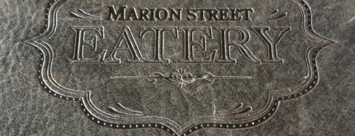 Marion St Eatery is one of Winnipeg.