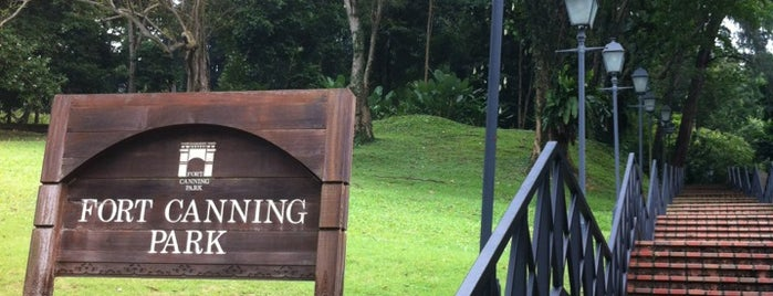 Fort Canning Park is one of Trek Across Singapore.