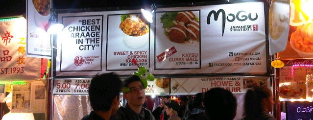 Mogu: Japanese Street Eats is one of The best Vancouver food trucks.