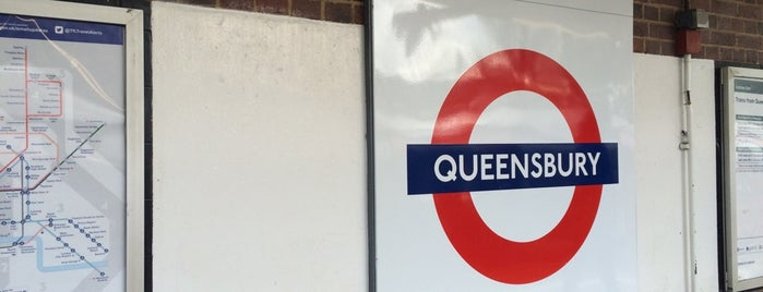 Queensbury London Underground Station is one of Tube Challenge.