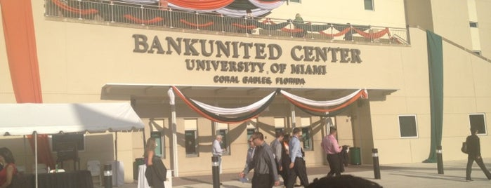 BankUnited Center is one of Sporting Venues To Visit.....