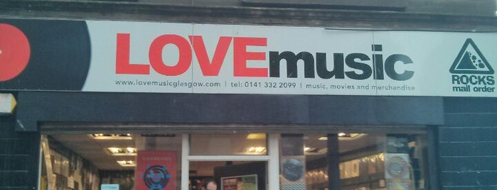 Love Music Records is one of Glasgow I was there.