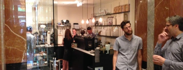 Hole in the Wall Coffee is one of NYC: Newest Indie Cafes and Coffee Shops.