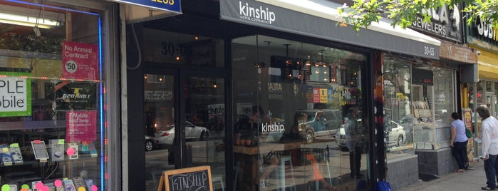 Kinship Coffee Cooperative is one of NYC: Newest Indie Cafes and Coffee Shops.
