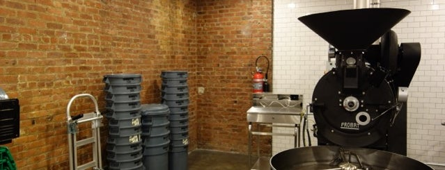 Parlor Coffee Roasting is one of NYC: Newest Indie Cafes and Coffee Shops.
