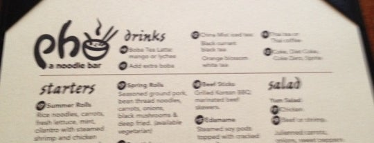 Pho. A Noodle Bar is one of Creme de la Creme.