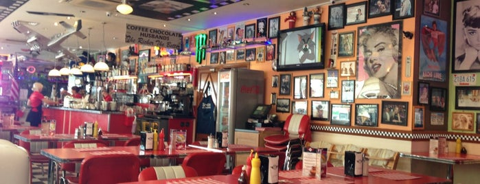 JB's American Diner is one of Brighton.