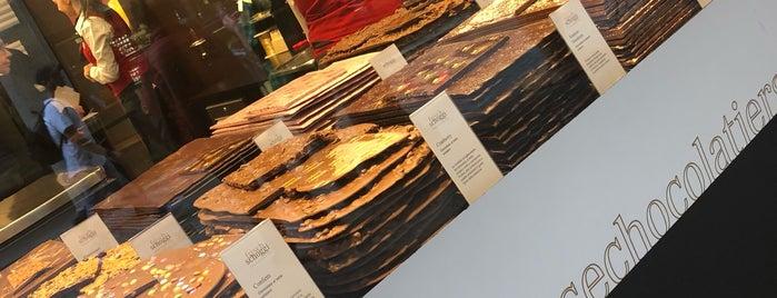 Läderach chocolatier suisse is one of Lugano.