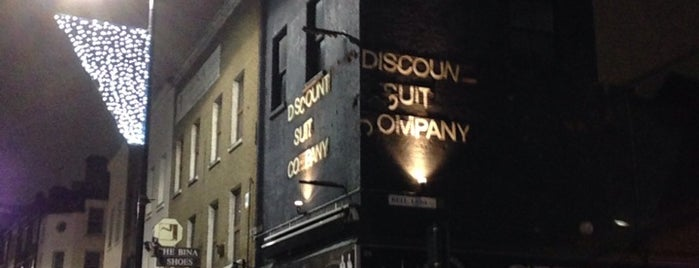 Discount Suit Company is one of London Calling: LDN To Do.