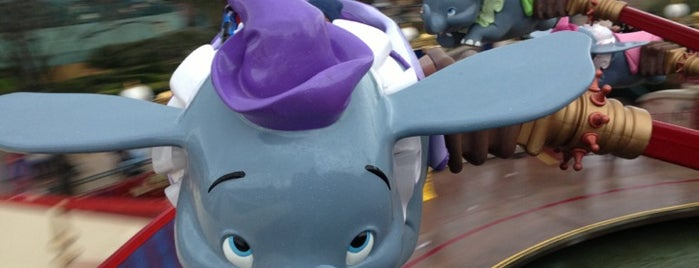 Dumbo the Flying Elephant is one of Disneyland for the Small Ones.