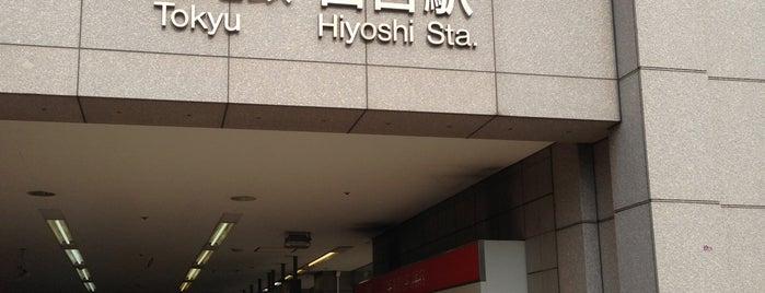 Tokyu Hiyoshi Station (TY13/MG13) is one of 駅.