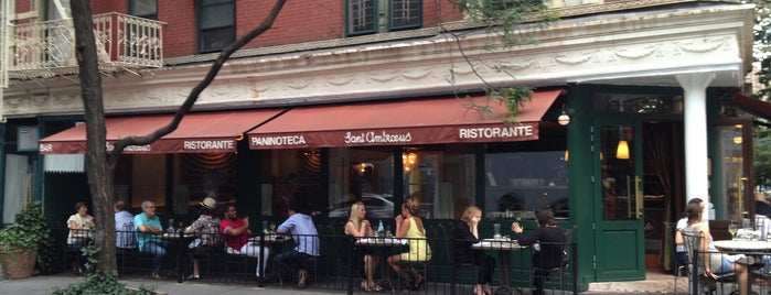 Sant Ambroeus West Village is one of NYC Restaurants With Outdoor Seating.