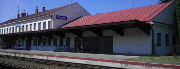 Železniční stanice Přibyslav is one of Železniční stanice ČR: P (9/14).