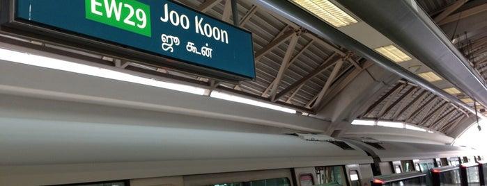 Joo Koon MRT Station (EW29) is one of MRT: East West Line.