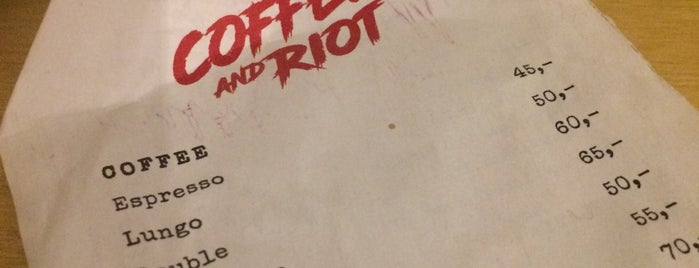 Coffee and Riot is one of Kavárny.