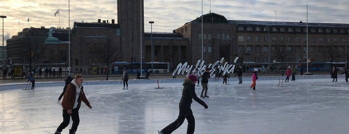 Jääpuisto Ice Park is one of Helsinki.