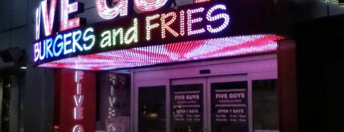 Five Guys is one of Place I've been to.