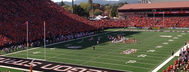 Reser Stadium is one of Pac-12 Football.