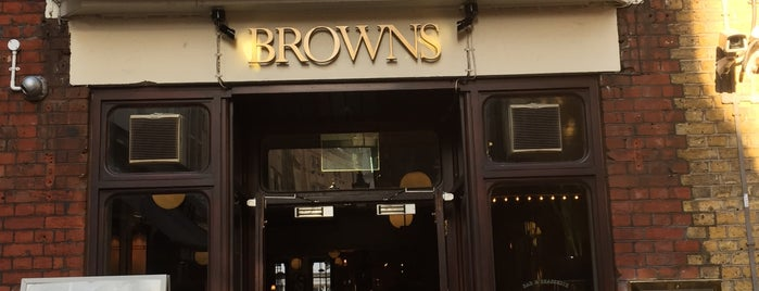 Browns Courtrooms is one of Good pubs & wine bars in London.