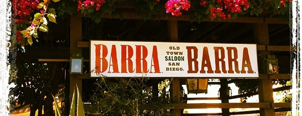 Barra Barra Saloon is one of 2011 Dining Out for Life San Diego.