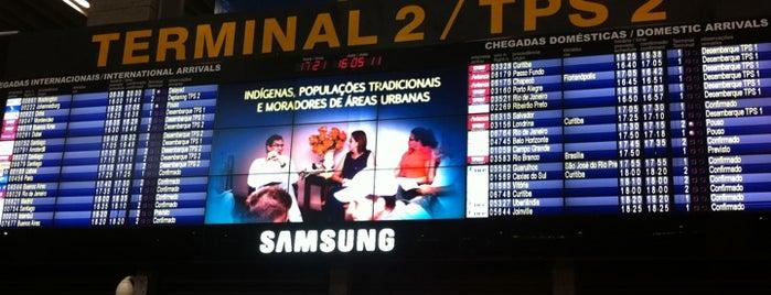 Terminal 2 (TPS2) is one of Aeroporto de Guarulhos (GRU Airport).