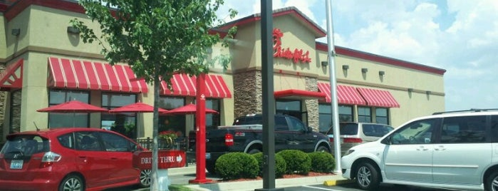 Chick-fil-A is one of Usual places.