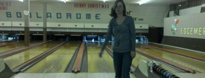 "Edgemere Bowl is one of Nostalgic Baltimore - ""Duck Pin Bowling""."