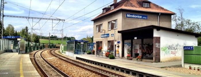 Železniční stanice Mirošovice u Prahy is one of Železniční stanice ČR: M (7/14).