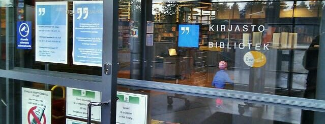 Vuosaaren kirjasto is one of HelMet-kirjaston palvelupisteet.