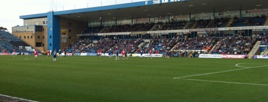 MEMS Priestfield Stadium is one of Football grounds visited.