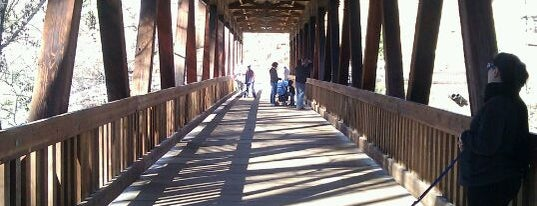 Vickery Creek Covered Pedestrian Bridge is one of Visit Roswell, GA.