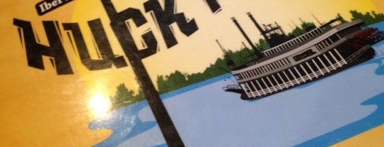 Huck Finn's Cafe is one of Places I've ate at.